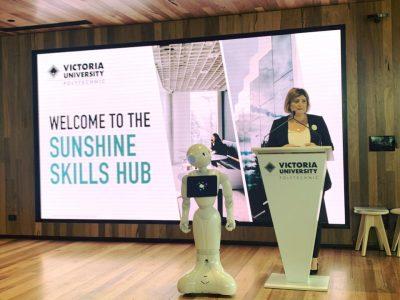 natalie suleyman speaking at the sunshine skills hub